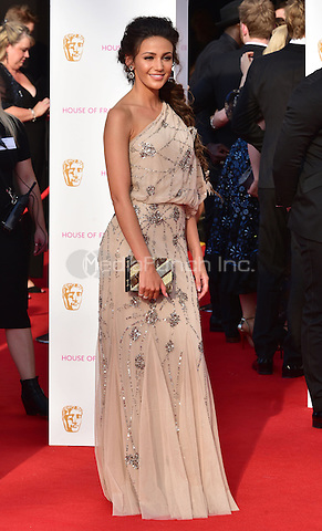 LONDON, ENGLAND - MAY 08: Michelle Keegan at he British Academy (BAFTA) Television Awards 2016, Royal Festival Hall, Belvedere Road, London, England, UK, on Sunday 08 May 2016.<br /> CAP/JOR<br /> &copy;JOR/Capital Pictures /MediaPunch ***NORTH AMERICA AND SOUTH AMERICA ONLY***
