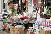 Tripoli, Libya - Street Scene, Shop Vendor in Traditional Male Dress, Medina