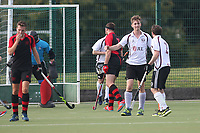Wapping celebrate their first goal during Havering HC vs Wapping HC 2nd XI, East Region League Field Hockey at Campion School on 13th October 2018