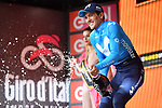Richard Carapaz (ECU) Movistar Team wins Stage 8 of the 2018 Giro d'Italia, running 209km from Praia a Mare to Montevergine di Mercogliano, Italy. 12th May 2018.<br /> Picture: LaPresse/Massimo Paolone | Cyclefile<br /> <br /> <br /> All photos usage must carry mandatory copyright credit (&copy; Cyclefile | LaPresse/Massimo Paolone)
