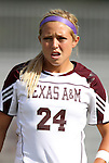 09 September 2011: Texas A&M's Rachael Balaguer. The Duke University Blue Devils defeated the Texas A&M Aggies 7-2 at Koskinen Stadium in Durham, North Carolina in an NCAA Division I Women's Soccer game.