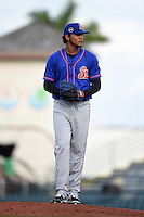 St. Lucie Mets pitcher Marcos Molina (29) gets ready to deliver a pitch during a game against the Bradenton Marauders on April 11, 2015 at McKechnie Field in Bradenton, Florida.  St. Lucie defeated Bradenton 3-2.  (Mike Janes/Four Seam Images)