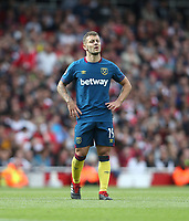 West Ham United's Jack Wilshere<br /> <br /> Photographer Rob Newell/CameraSport<br /> <br /> The Premier League - Arsenal v West Ham United - Saturday August 25th 2018 - The Emirates - London<br /> <br /> World Copyright © 2018 CameraSport. All rights reserved. 43 Linden Ave. Countesthorpe. Leicester. England. LE8 5PG - Tel: +44 (0) 116 277 4147 - admin@camerasport.com - www.camerasport.com