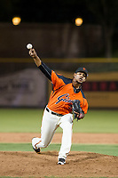 AZL Giants relief pitcher Olbis Parra (72) delivers a pitch during a game against the AZL Angels on July 10, 2017 at Scottsdale Stadium in Scottsdale, Arizona. AZL Giants defeated the AZL Angels 3-2. (Zachary Lucy/Four Seam Images)