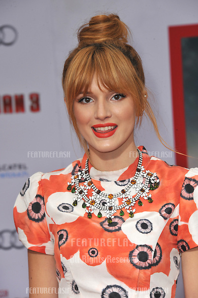 "Bella Thorne at the Los Angeles premiere of ""Iron Man 3"" at the El Capitan Theatre, Hollywood..April 24, 2013  Los Angeles, CA.Picture: Paul Smith / Featureflash"