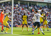 Preston North End's Callum Robinson scores the opening goal <br /> <br /> Photographer Alex Dodd/CameraSport<br /> <br /> The EFL Sky Bet Championship - Preston North End v Burton Albion - Sunday 6th May 2018 - Deepdale Stadium - Preston<br /> <br /> World Copyright &copy; 2018 CameraSport. All rights reserved. 43 Linden Ave. Countesthorpe. Leicester. England. LE8 5PG - Tel: +44 (0) 116 277 4147 - admin@camerasport.com - www.camerasport.com
