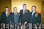 John Galvin, Kilgarvan, Bobby Ó Sé, Drimoleague, Wayne Comerford, Stradbally and David O'Donoghue, graduating from Agricultural Engineering.