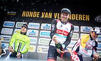 Ronde van Vlaanderen 2013..champagne podium