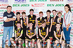 The Gaelscoil Aogain team that played in the NS Senior B final at the St Marys Christmas basketball blitz in Castleisland on Friday front row l-r: Billy Breathnach, Padraig O'Shea, Rion Dennehy, Josh Elvins, Back row Tomas O'Connor, Finn Nolan, Sky Lynch, Conor Wilkinson, Redmond O'Connor, Ruairi Burke, JD Cattigan and Jerh Brosnan