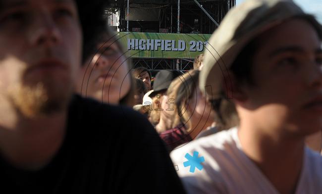 Highfield-Festival 2011 am Störmthaler See. im Bild: Watching for Highfield?  Foto: Alexander Bley