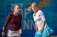 Zandvoort, Netherlands, 8 June, 2019, Tennis, Play-Offs Competition, Womans doubles: Sem Wensveen (NED) (L) and Dominique Karregat (NED)<br /> Photo: <br /> Henk Koster/tennisimages.com