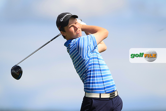 Mark MacGrath (Limerick) on the 17th tee during Matchplay Round 3 of the South of Ireland Amateur Open Championship at LaHinch Golf Club on Saturday 25th July 2015.<br /> Picture:  Golffile | TJ Caffrey