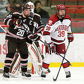 Dennis Robertson (Brown - 20), Marco De Filippo (Brown - 31), Brian Hart (Harvard - 39) - The Harvard University Crimson defeated the visiting Brown University Bears 3-2 on Friday, November 2, 2012, at the Bright Hockey Center in Boston, Massachusetts.