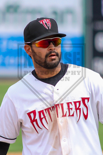 Wisconsin Timber Rattlers third baseman Gabriel Garcia (4) during a Midwest League game against the Lansing Lugnuts on May 8th, 2018 at Fox Cities Stadium in Appleton, Wisconsin. Lansing defeated Wisconsin 11-4. (Brad Krause/Krause Sports Photography)