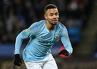 Manchester City 's Gabriel Jesus<br /> <br /> Photographer Andrew Kearns/CameraSport<br /> <br /> English League Cup - Carabao Cup Quarter Final - Leicester City v Manchester City - Tuesday 18th December 2018 - King Power Stadium - Leicester<br />  <br /> World Copyright © 2018 CameraSport. All rights reserved. 43 Linden Ave. Countesthorpe. Leicester. England. LE8 5PG - Tel: +44 (0) 116 277 4147 - admin@camerasport.com - www.camerasport.com