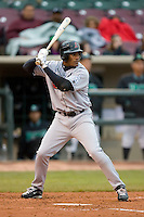 Alfredo Silverio #27 of the Great Lakes Loons at bat versus the Dayton Dragons at Fifth Third Field April 21, 2009 in Dayton, Ohio. (Photo by Brian Westerholt / Four Seam Images)