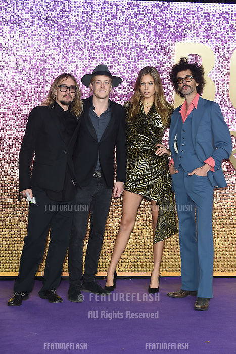 "LONDON, UK. October 23, 2018: The Darkness at the world premiere of ""Bohemian Rhapsody"" at Wembley Arena, London.<br /> Picture: Steve Vas/Featureflash"