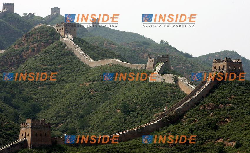 Simatai Cina 23/7/2007<br /> Vista della Grande Muraglia a Simatai, 130 chilometri a Nord Est di Pechino.<br /> Foto Andrea Staccioli Insidefoto