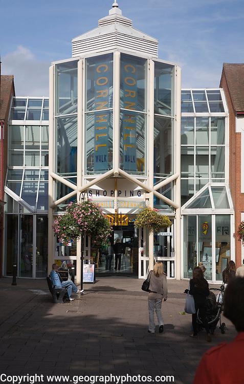 Cornhill Walk shopping mall centre, Bury St Edmunds, Suffolk, England