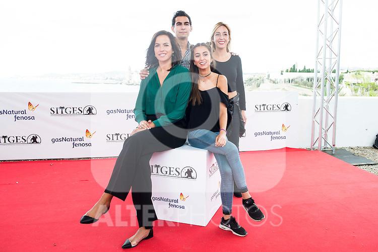"Actress Laura Yuste, Marina Boti, Lluis Segura and the director of the film Denise Castro Palaudarias pose to the media during the presentation of the film ""Salvacion"" at Festival de Cine Fantastico de Sitges in Barcelona. October 11, Spain. 2016. (ALTERPHOTOS/BorjaB.Hojas)"