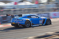 Christina Nielsen, #7 Aston Martin Vantage GT3, Pirelli World challenge race, Long Beach Grand Prix, Long Beach, CA, April 2015.  (Photo by Brian Cleary/ www.bcpix.com )