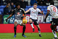 Bolton Wanderers' Joe Pritchard competing with Reading's Tyler Blackett  <br /> <br /> Photographer Andrew Kearns/CameraSport<br /> <br /> The EFL Sky Bet Championship - Bolton Wanderers v Reading - Tuesday 29th January 2019 - University of Bolton Stadium - Bolton<br /> <br /> World Copyright © 2019 CameraSport. All rights reserved. 43 Linden Ave. Countesthorpe. Leicester. England. LE8 5PG - Tel: +44 (0) 116 277 4147 - admin@camerasport.com - www.camerasport.com