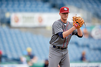 Lehigh Valley IronPigs relief pitcher Brandon Leibrandt (37) gets ready to deliver a pitch during a game against the Syracuse Chiefs on May 20, 2018 at NBT Bank Stadium in Syracuse, New York.  Lehigh Valley defeated Syracuse 5-2.  (Mike Janes/Four Seam Images)