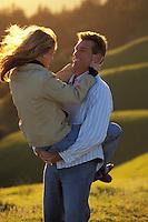 Happy couple, Mt. Tamalpais, N. California