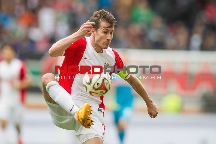 02.05.2015, SGL Arena, Augsburg, GER, 1.FBL,  FC Augsburg vs. 1. FC Koeln, im Bild Paul Verhaegh (Augsburg #2) <br /> <br /> Foto &copy; nordphoto / Straubmeier