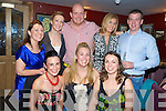 Elizabeth O'Shea, Killarney, pictured with Majella Regan, Mary Curran, Maria Falvey, Elaine O'Shea, Kevin Rogers Davison, OOnagh McCarthy and Declan Dolan as she celebrated her 30th birthday in Corkerys Bar, Killarney on Saturday night...