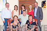 Lucy O'Connell, Tralee, pictured with Mairead Kiely, seamus O'Connell, Tim Kiely, Siobhan O'Connell, Aileen Cronin, Eileen and Raymond O'Connell as she celebrated her 50th birthday in Lord Kenmares restaurant, Killarney on Friday night.