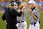 01/09/2011 - Chip Kelly argues with an official during the second half during the BCS National Championship game in Scottsdale, Arizona.