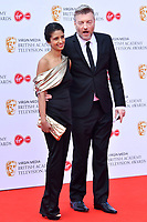 Charlie Brooker and Konnie Huq<br /> at Virgin Media British Academy Television Awards 2019 annual awards ceremony to celebrate the best of British TV, at Royal Festival Hall, London, England on May 12, 2019.<br /> CAP/JOR<br /> ©JOR/Capital Pictures