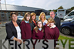 Pupils attending St Ita's and St Joseph's Tralee who are not allowed on School transport, from left: Kerry Marsh (Rathmore) , pictured with her mother Paula Marsh, Jessica Power (Abbeyfeale) with her mother  Sheila Power and Labhaoise O'Connor (Killeen, Tralee) with her parents Marie and Donal O'Connor.