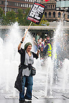 © Joel Goodman - 07973 332324 - all rights reserved . 10/10/2009 . Manchester , UK . Thousands of people attend an EDL demonstration and a counter demonstration in Manchester City Centre . Photo credit : Joel Goodman