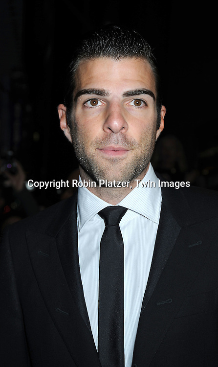 "actor Zachary Quinto arriving at The Broadway Opening Night of the revival of ""Promises Promises"" on April  25, 2010 at The Broadway Theatre in New York City."