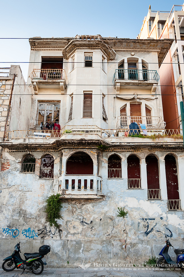 Piraeus, Greece. Old buildings.