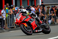 Jay Lawrence (Lower Hutt) during Formula One race one. The 2017 Suzuki series Cemetery Circuit motorcycle racing at Cooks Gardens in Wanganui, New Zealand on Tuesday, 27 December 2017. Photo: Dave Lintott / lintottphoto.co.nz