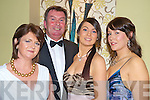 Pictured at the Kerry Stars Black Tie ball in The Malton on Friday night were Joan, Tony and Jennifer Lenihan and Susan Fleming, Killarney.