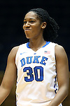 27 October 2013: Amber Henson. The Duke University Blue Devils played their annual preseason Blue White women's college basketball game at Cameron Indoor Stadium in Durham, North Carolina.