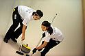 (L-R) Miyuki Sato, Emi Shimizu (JPN),.JANUARY 25, 2012 - Curling :.2012 Karuizawa International Curling Championship Women's 1st Game between South Korea 9-5 Japan at SCAP Karuizawa in Nagano, Japan. (Photo by Hitoshi Mochizuki/AFLO)