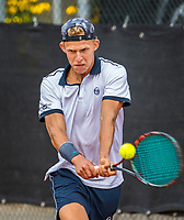 Rotterdam, Netherlands, August21, 2017, Rotterdam Open, Michiel de Krom (NED)<br /> Photo: Tennisimages/Henk Koster