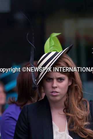 "Princess Beatrice and Eugenie..attend the Ladies Day of racing at the Royal Ascot Meeting, Ascot_18/06/2009.Mandatory Photo Credit: ©Dias/Newspix International..**ALL FEES PAYABLE TO: ""NEWSPIX INTERNATIONAL""**..PHOTO CREDIT MANDATORY!!: NEWSPIX INTERNATIONAL(Failure to credit will incur a surcharge of 100% of reproduction fees)..IMMEDIATE CONFIRMATION OF USAGE REQUIRED:.Newspix International, 31 Chinnery Hill, Bishop's Stortford, ENGLAND CM23 3PS.Tel:+441279 324672  ; Fax: +441279656877.Mobile:  0777568 1153.e-mail: info@newspixinternational.co.uk"