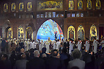 Pope Tawadros II leads an Easter Eve mass at the St. Mark church in Cairo April 15, 2017. Photo by Amr Sayed