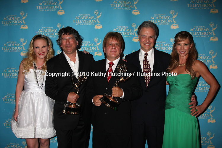 LOS ANGELES - JUN 25:  Original Song Drama Series - Y&R - Adrienne Frantz, David Kurtz, Jack Allocco, Gary Verna, & Sarah Brown at the 2010 Creative Daytime Emmys  Bonaventure Hotel in.Los Angeles, CA on June 25, 2010...