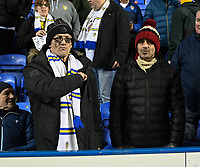 Leeds United fan<br /> <br /> Photographer David Horton/CameraSport<br /> <br /> The EFL Sky Bet Championship - Reading v Leeds United - Tuesday 12th March 2019 - Madejski Stadium - Reading<br /> <br /> World Copyright © 2019 CameraSport. All rights reserved. 43 Linden Ave. Countesthorpe. Leicester. England. LE8 5PG - Tel: +44 (0) 116 277 4147 - admin@camerasport.com - www.camerasport.com