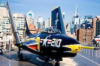 USS Intrepid flight deck in Manhattan.