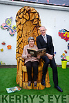 Chairperson of the Scoil Eoin Board of Management, Ena Geary, and Kieran O'Toole (Principal) at the official opening of the outside Storyteller's Garden at Scoil Eoin on Friday