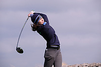 Shannon Burke (UU) during the final of the Irish Students Amateur Open Championship, Tralee Golf Club, Tralee, Co Kerry, Ireland. 12/04/2018.<br /> Picture: Golffile | Fran Caffrey<br /> <br /> <br /> All photo usage must carry mandatory copyright credit (&copy; Golffile | Fran Caffrey)