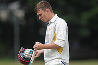 Ronnie Jackson of Rainham is out diuring Bentley CC (Bowling) vs Rainham CC, T Rippon Mid Essex Cricket League Cricket at Coxtie Green Road on 9th June 2018